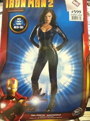 BLACK WIDOW ADULT COSTUME SIZE SMALL (4-6) IRON MAN - Iron Man Black Costume