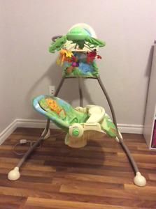 Fisher Price Rainforest Infant swing/ Cord and battery powered
