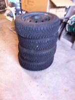 4-195/65R15 NEW GRIP KING STAR SW41 TIRES ON RIMS