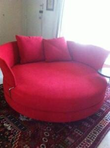 King Furniture Red Circular Lounge Putney Ryde Area Preview