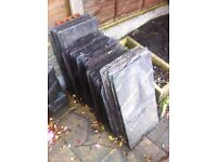 70 reclaimed roof tiles 50x30cm and 60x30cm