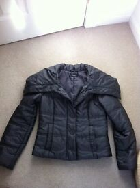 Ladies Marks and Spencer funnel neck padded jacket, size 10