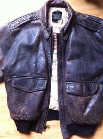 Avirex Leather BOMBER / FLIGHT Jacket