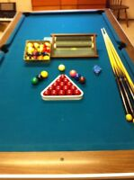 Pool Table with accessories for sale