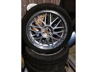 "17"" 7J et48 4x120 5x100 multi fitment alloy wheels"