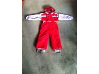 Children's ski suit aged 4 (but was worn by our 6 yr old)