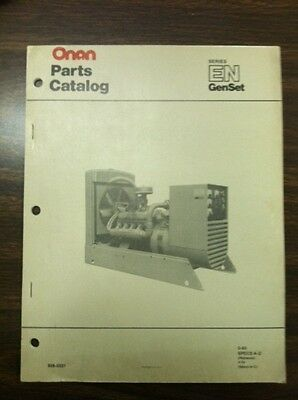 Onan Parts Catalog For En Series Genset Specs A - D