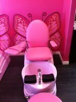 2 Child Size Butterfly Pedicure Chairs