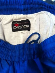 Blue wind pants Canadian made - zipper at ankle