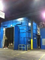used downdraft spray booth