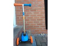 Scooter - 3 wheel in orange and blue