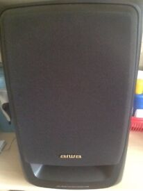 Pair of Aiwa Speakers - Power 40W - Old style (Leads but no USB cable connection) -Collect Guildford