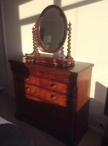 Chest of Drawers & Vanity Mirror Port Melbourne Port Phillip Preview
