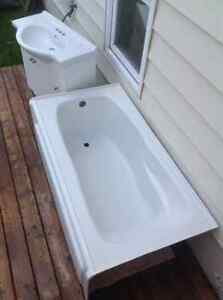 Soaker Tub and Space saver vanity
