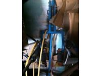 Standing Calf Machine and free standing peck deck standard plate loading