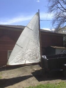"""Dingy Sail and Mast """"AS NEW"""" and HARDLY EVER USED"""