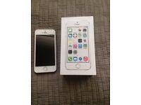 apple iphone 5s white gold 16 gig gb unlocked open o2 02 ee t mobile virgin tesco 3 vodafone NEW