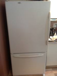 Maytag bottom draw with ice maker fridge.