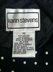 New Black & white dress by Karin Stevens
