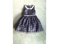 Girl's party dress - black with silver detail. Age 9