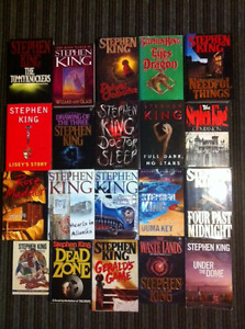 STEPHEN KING Books - 18 different Stephen King books for sale.