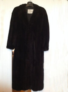 Women's dark mink coat