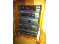 Sony compact Hi-Fi stero stacking system in pine cabinet