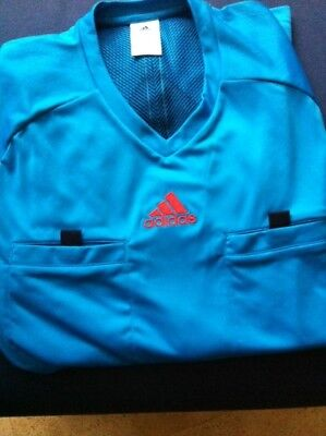 Adidas Schiedsrichter Referee Trikot 2014 - Kurzarm Blau Gr. 2XL +++wie NEU!+++