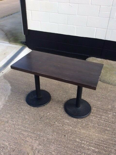 Dining table or desk. Laminate wood top and metal legs