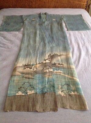 Vintage Japanese linen kimono