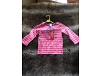 Genuine Brand New With Tags Gymboree Girl's Long Sleeved Top Age 4 Years, Height 39-42 inches