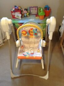 Fisher Price Rainforest 3 in 1 Swing and Rocker