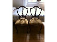 Pair of elegant antique style occasional or dining chairs