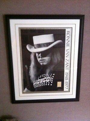 Ronnie Van Zant 1977 Concert Poster Lynyrd Skynyrd Lakeland,Florida