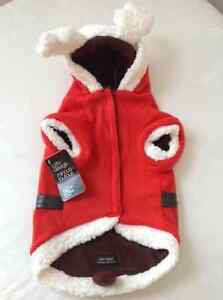 """A """"SANTA CLAUS"""" REVERSIBLE DOGGIE OUTFIT~SIZE M~BRAND NEW!"""