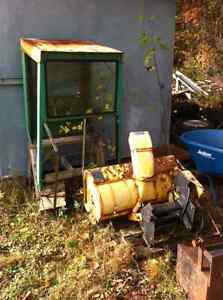 Snowblower and cab for John Deere lawn tractor