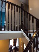REPAINTING STAINING STAIRCASES AND RAILINGS