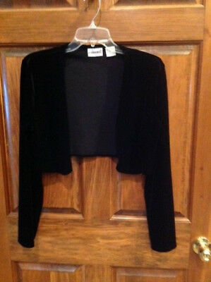 Fashion Bug Bolero Shrug Size 10 Black  Girls Stretch Velvet - Girls Velvet Shrug