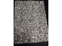 BRAND NEW - Stunning Silver Glitter Fabric