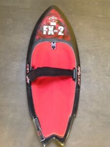 FX-2 Kneeboard with adjustable finn's