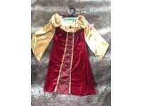 Brand New With Tags Child Girls Kids Renaissance Princess Fancy Dress Costume Crown Age 3-4 - GU1