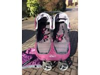 Twin Pushchair / double Buggy City Mini Double by Baby Jogger