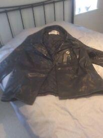 Mens Schott Black Leather Jacket