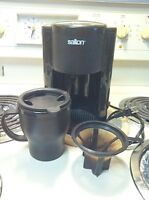 old style *used* single cup coffee maker with mug
