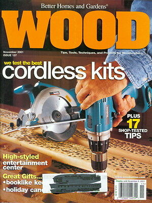 2001 Wood Magazine: Best Cordless Drills Cover