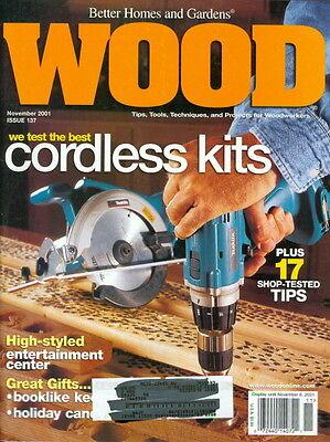 2001 Wood Magazine: Best Cordless Drills Cover