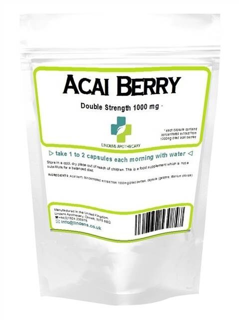 Acai Berry 2X Stärke 1000mg Gewichtsverlust Kapseln (60 pack) hergestellt in UK
