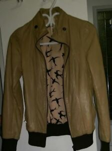 Soia & Kyo Leather Jacket Brown Taupe Nude Sand Beige Tan