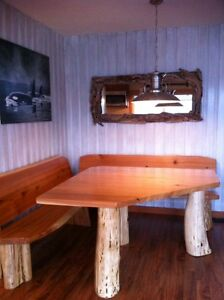 Quality hand made real wood tables lcoally crafted