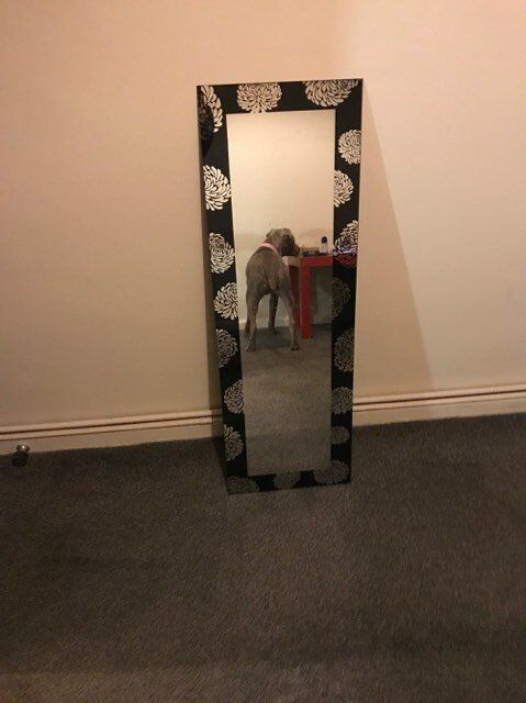 flower floral mirror.